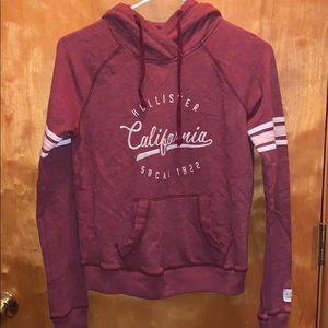 Maroon hollister hoodie